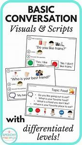 Basic Conversation Visuals and Scripts for Speech Therapy ...