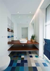 35 salles de bains modernes avec accessoires shopping With carrelage adhesif salle de bain avec spot led couleur