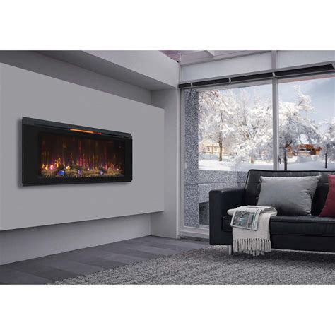 in wall fireplace northwest 35 in stainless steel electric fireplace with
