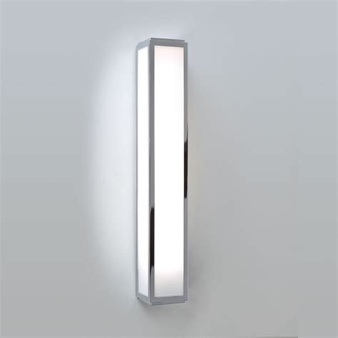 astro mashiko 500 polished chrome bathroom wall light at
