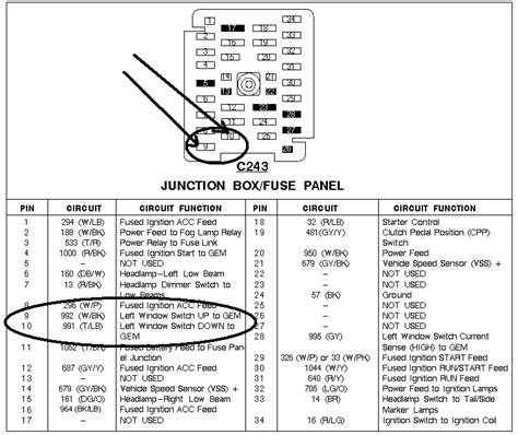 97 F150 Fuse Box Layout by I A 97 Ford F150 And The Driver Side Window Quit Going