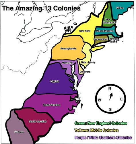 colonies map  large images  colonies