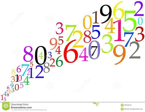 color numbers background mathematical concept royalty