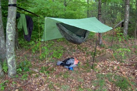 Hammock Cing Setup by Reader Q Recommended Guyline Lengths For Backpacking Shelters