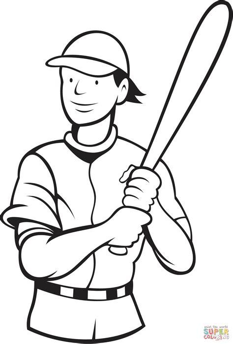 baseball batting stance coloring page  printable