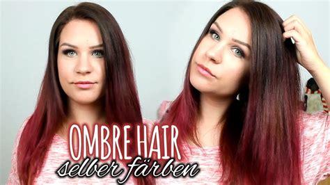 ombre haare braun neue haarfarbe ombre braun pink rote haare