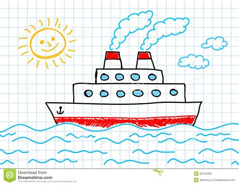 Boat Shipping Papers by Drawing Of Ship Stock Vector Illustration Of Relax Paper