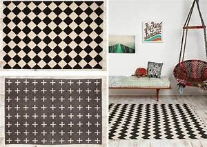 Tapis Style Scandinave : tapis scandinave noir et blanc le monde de l a ~ Teatrodelosmanantiales.com Idées de Décoration