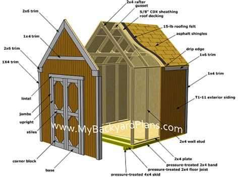 how to build a gable storage shed pictures and step by