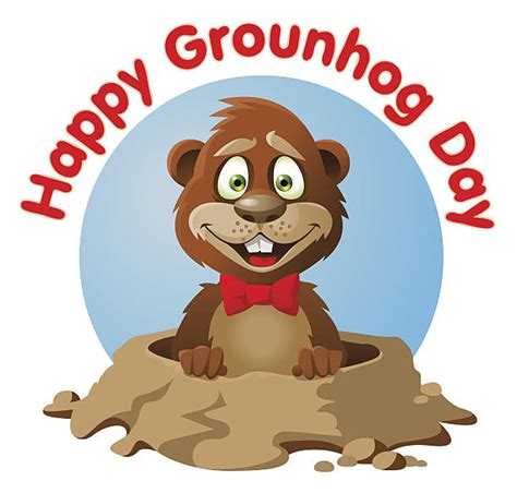 Groundhog Day Clipart Royalty Free Groundhog Day Clip Vector Images