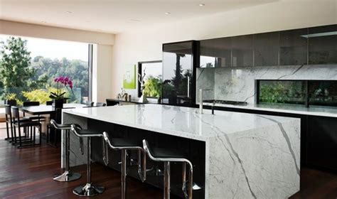 kitchen design los angeles wonderful waterfall counters abode 4504