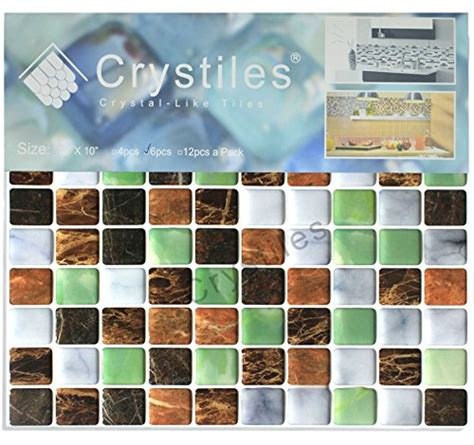 crystiles peel and stick self adhesive vinyl wall tiles