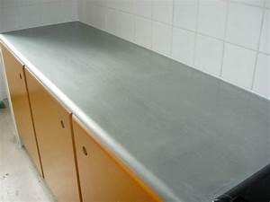 Plan De Travail En Zinc : plan de travail en zinc cuisine avec int gration ~ Teatrodelosmanantiales.com Idées de Décoration