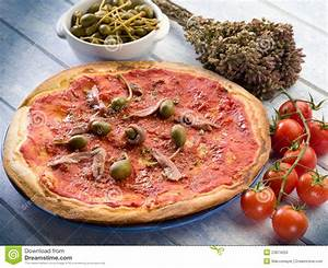 Pizza With Anchovies Stock Photos - Image: 23874053