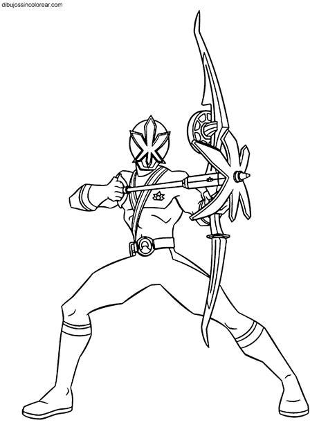 dibujos sin colorear dibujos de personajes de power rangers samurai  colorear parte