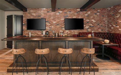 Bar Ideas by Industrial Bar Ideas Home Bar Industrial With Brick Wall