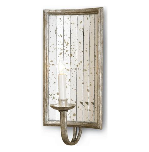 twilight rectangle antique mirror wall sconce kathy kuo home