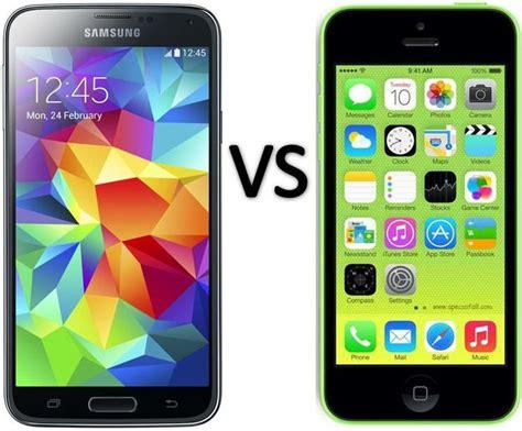 samsung galaxy s5 vs iphone 6 samsung galaxy s5 vs apple iphone 5c smartphone