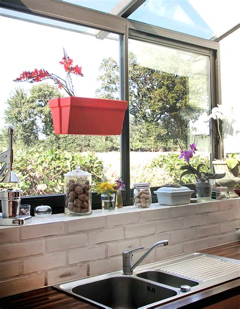 Indoor Window Planter by Magnetic Indoor Outdoor Planter Adheres To Both Sides Of