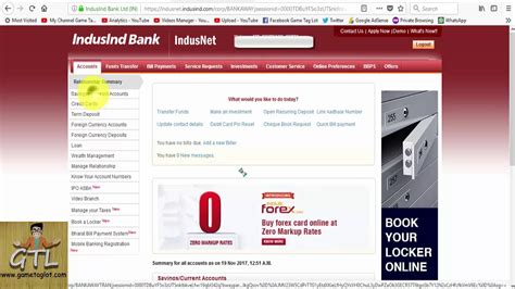 First, make sure that your smartphone is paired with your account. how to change Debit card pin online of Indusind Bank - YouTube