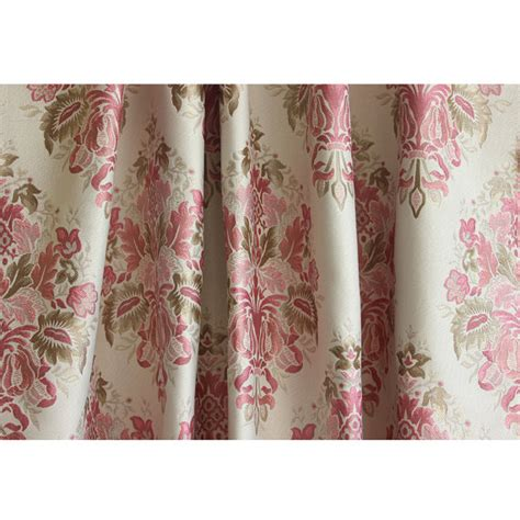 pink opulence grommet blackout lined curtain in jacquard weave