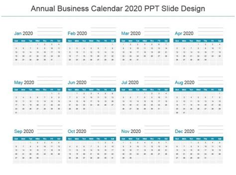 annual business calendar design powerpoint