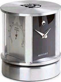 Movado Rotating Desk Clock by Movado Rotating Aluminum Clock