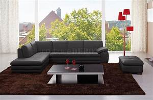 625 sectional sofa in black italian leather by jm With 625 sectional sofa