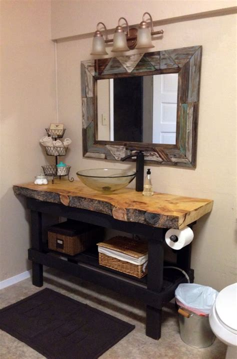 Diy Bathroom Vanity Ideas by 25 Best Rustic Bathroom Vanities Ideas On