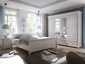 Schlafzimmer Weiß Grau : oxford komplett schlafzimmer kiefer wei ~ Frokenaadalensverden.com Haus und Dekorationen