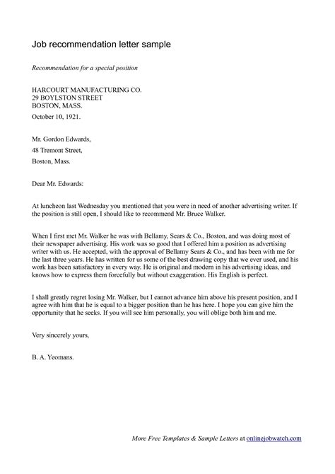 sample professional reference letter letters