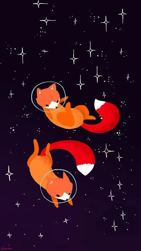 fox art cosmos wallpaper iphone  edition aaisuru fox