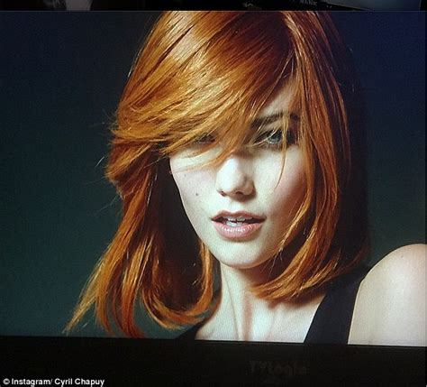 Karlie Kloss Transforms Into Fiery Redhead For Oreal
