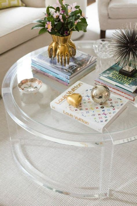 Feel free to use them. Styling Tricks for Round Coffee Tables | decorating a round table | Clear coffee table, Round ...