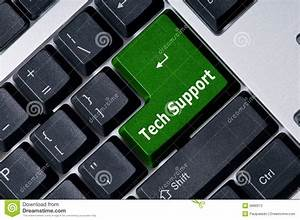Keyboard With Green Key Tech Support Stock Photos - Image ...