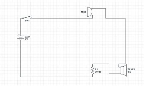 Simple Microphone Speaker Circuit Electrical