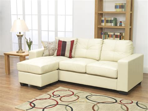 White Leather L Shaped Sofa White Sectional Sofa With