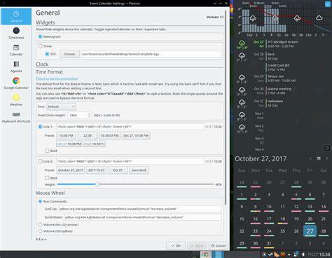 kde plasma widgets linux desktop