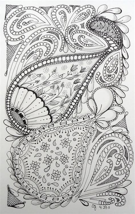 Coloring Zentangle by 50 Zentangle Patterns Coloring Pages Zentangle
