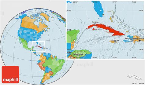 political location map  cuba