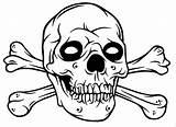 Skull Coloring Bones Crossbones Colouring Drawings Gangster Rose Roses Pirate Pdf Sugar Adults Arm Sketch Evil Template Carl Popular Coloringhome sketch template