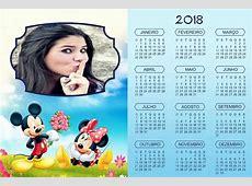 Montagem de fotos Calendário Calendário 2018 Moldura