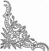 Corner Coloring Border Ornate Daisy Embroidery Stencils Template English Ingalls Flickr sketch template
