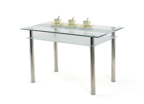 table en verre cuisine table jake verre blanc
