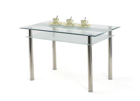 table en verre cuisine table jake verre blanc