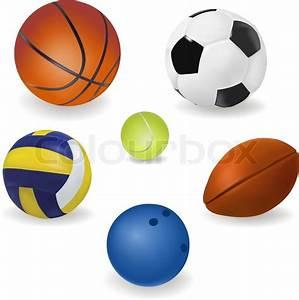 Set of sport balls. Vector. | Clipart Panda - Free Clipart ...