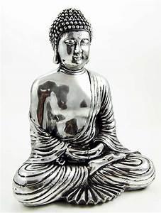 Buddha Thai Sitting Silver Colour [96609] - £15.00 ...