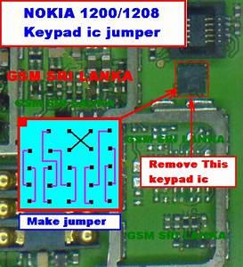 S B Telecom  Nokia 1200  1208 Keypad Ic Jumper