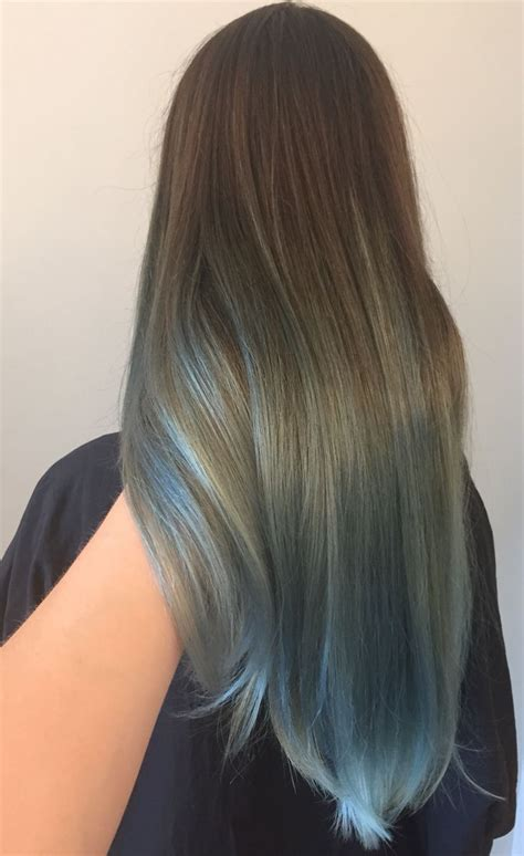 Brown To Silver Blue Color Melt Ombre Portland By Holly