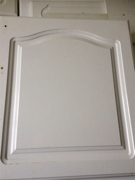 white gloss cathedral kitchen unit doors  farnworth